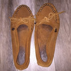 Moccasins brown size 6 1/2